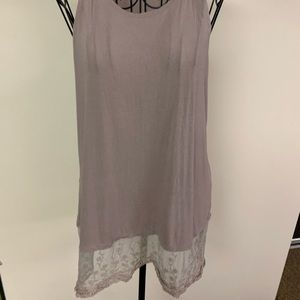 Buckle tan size small tank top with lace bottom